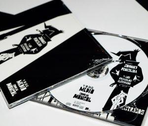 Diseño del digipack del disco de Johnny Penicilina y los frixuelos eléctricos. Cubiertas y galleta del cd
