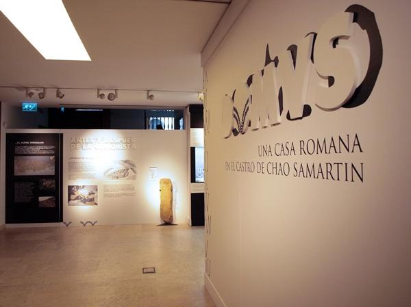 """trabajo de dirección de arte en la exposición de """"Domvs, una casa romana en el Chao Samartín"""""""