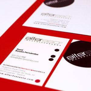 Identidad corporativa y papelería de ALTER360