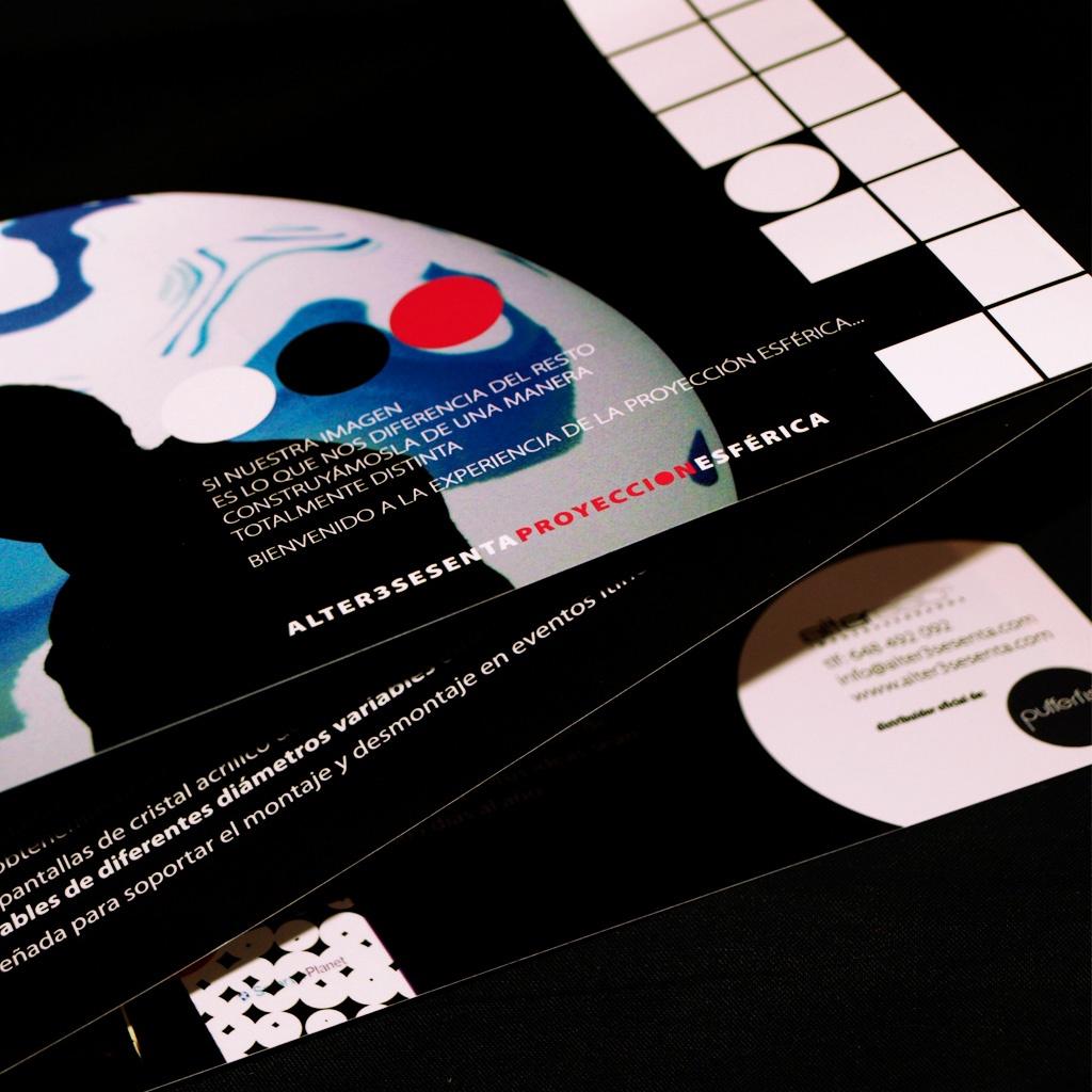 Desplegable y papelería alter360