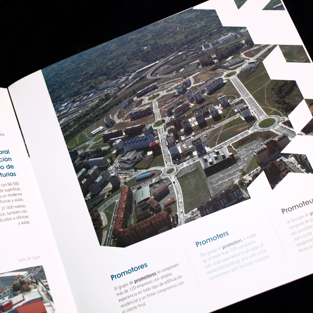 Diseño de folleto corporativo de CAC-ASPROCON