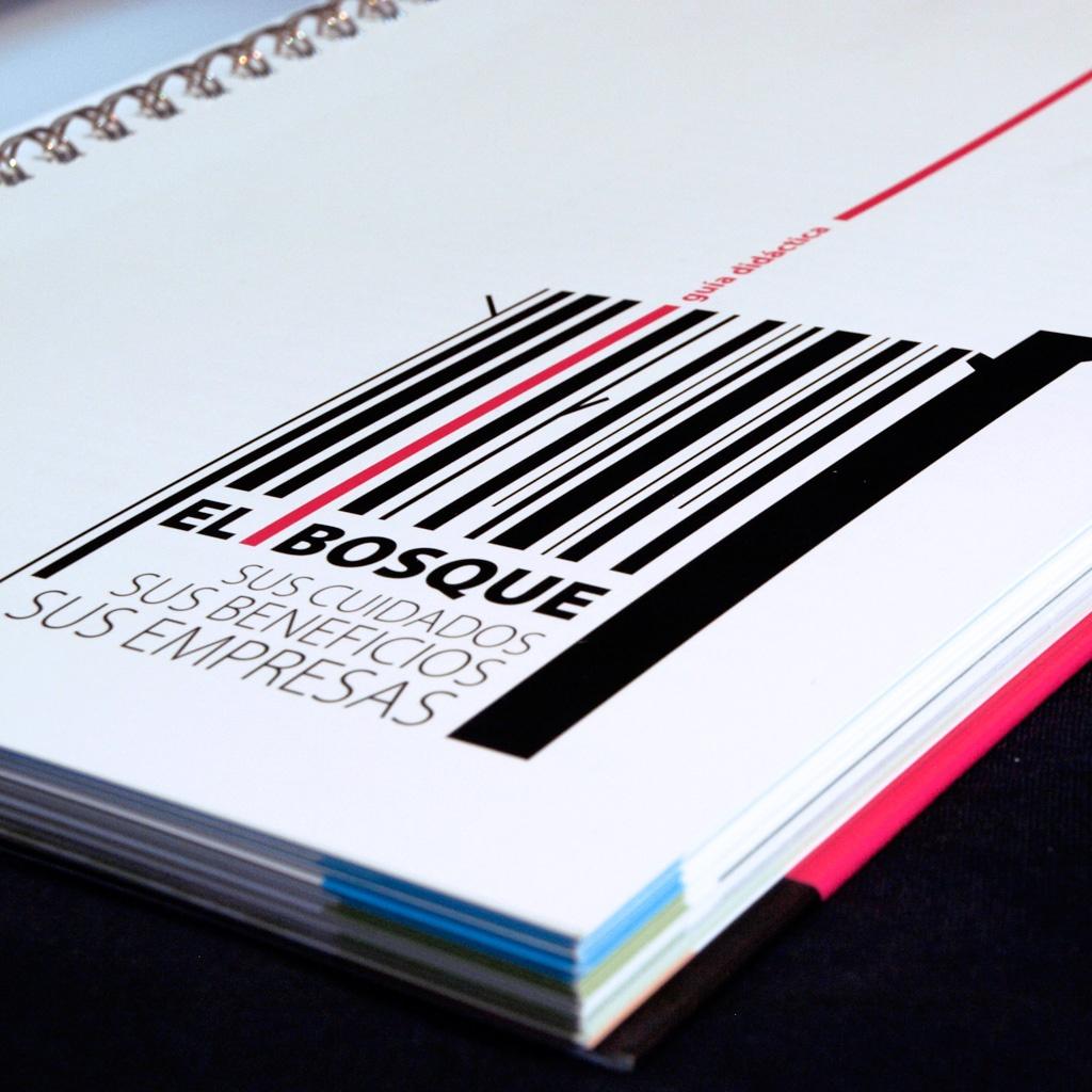 Diseño de Guía el bosque, sus cuidados, sus beneficios y sus empresas, editado por Asmadera