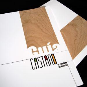 Diseño de la Guía castaño, la madera de asturias
