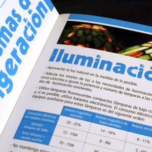 Diseño y maquetación de la guía de ahorro energético, editada por Faen