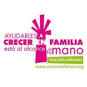 """Marca y logotipo para la campaña """"Familias colaboradoras"""" de la ong Crecer con Futuro"""