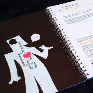 Diseño y maquetación del cuaderno agenda corporativa de Outycom