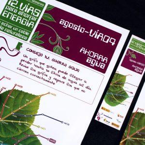 """Diseño de campaña """"ahorra agua"""" de Feve y Faen"""
