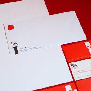 Identidad corporativa y papelería IBA