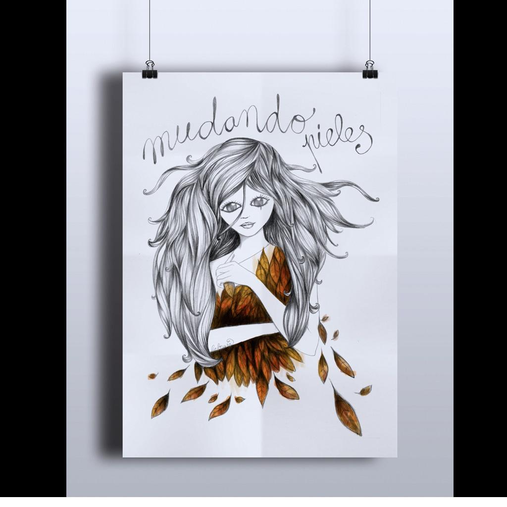 Ilustración realizada en papel y grafito con retoque digital