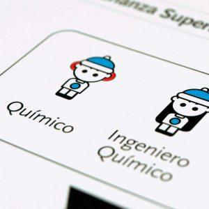 Ilustración realizada para el folleto de difusión de actividades y ventajas del Colegio Oficial de Químicos de Asturias