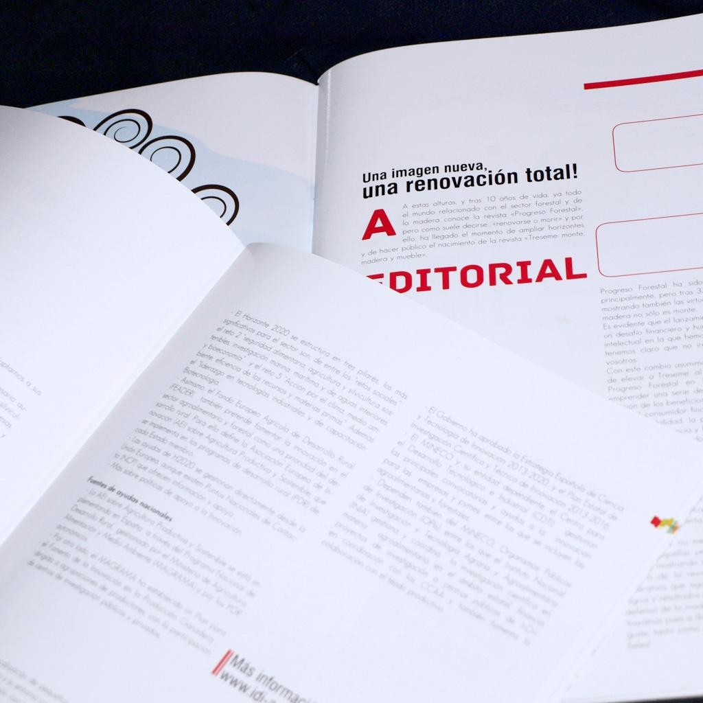Diseño y maquetación de la revista Treseme, revista editada por Asmadera