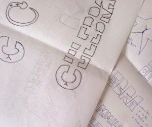 boceto logotipo familia culebra