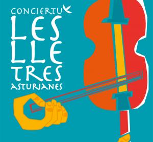 Diseño de cartel e ilustración para concierto de música folk en asturiano