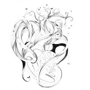 ilustración día del libro realizada con grafito y retoque digital