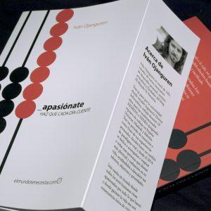 Diseño y maquetación del libro Apasiónate, de Iván Ojanguren