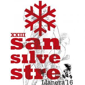 Diseño de mupi, cartel y folleto para la San Silvestre de Llanera