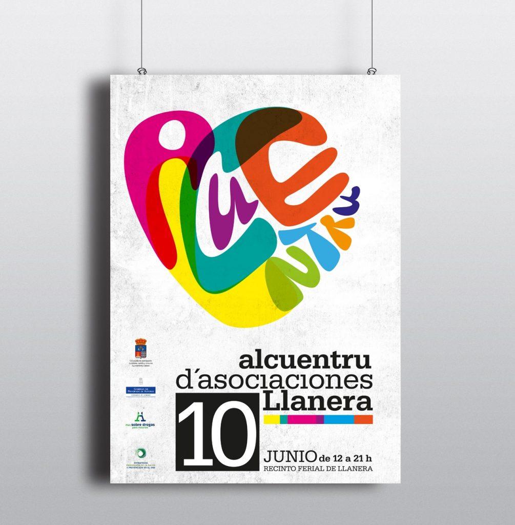 Diseño y maquetación de cartel, lonas y banderolas alcuentru de asociaciones