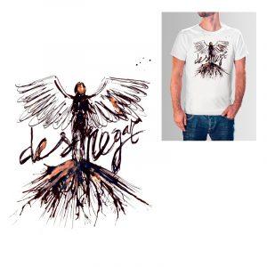 Diseño de camiseta con técnica tradicional