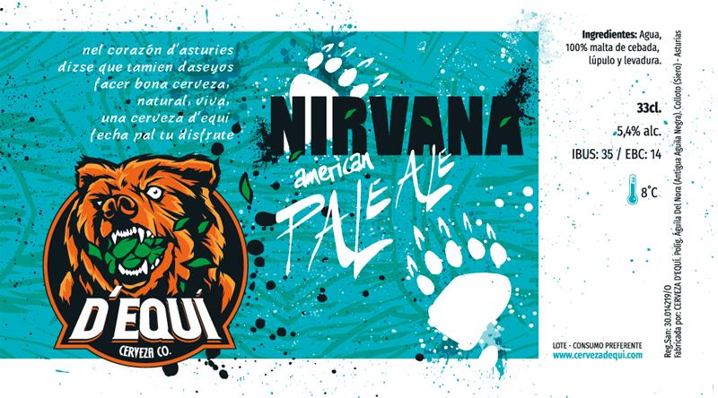 Diseño de etiqueta de cerveza, con trabajo de lettering con pluma casera y tinta