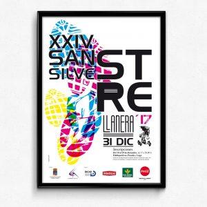 Diseño de cartel para San Silvestre de Llanera
