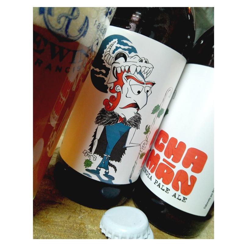 ilustración y diseño de etiqueta para cerveza artesana asturiana