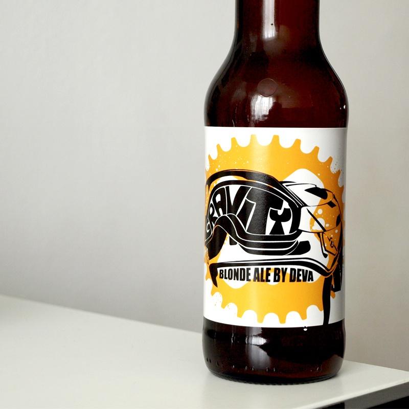 Ilustración y diseño de etiqueta para cerveza artesanal asturiana