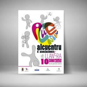 Diseño de gráfica para encuentro de asociaciones asturianas