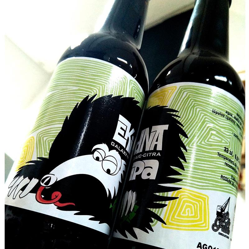 Ilustración y diseño de etiqueta para cerveza artesanal