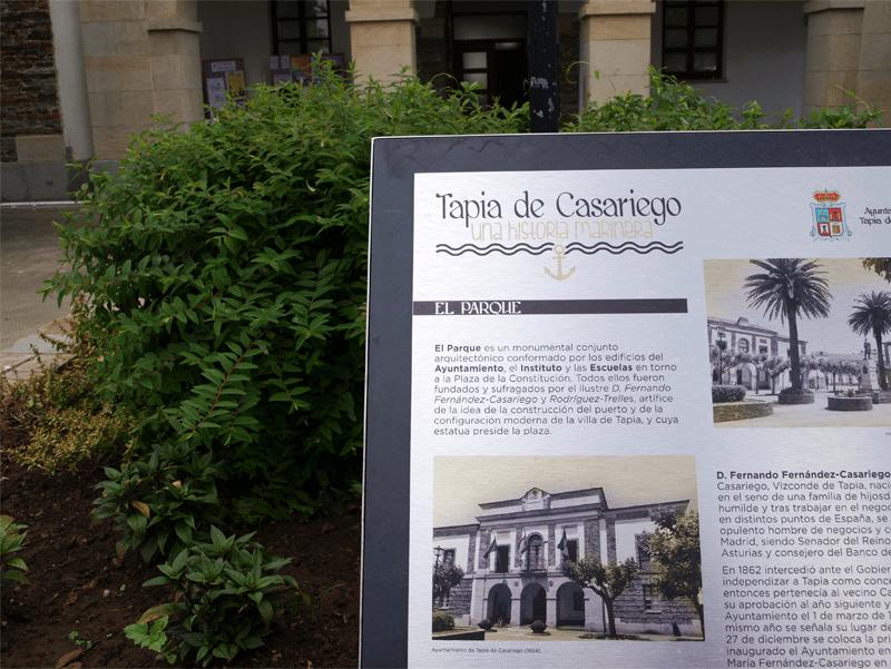 Esta ruta discurre por lugares emblemáticos de Tapia, un total de 15.