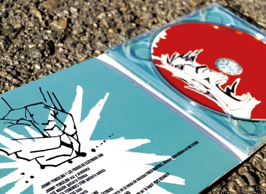 Diseño e ilustración para cd de Johnny Penicilina y los frixuelos eléctricos