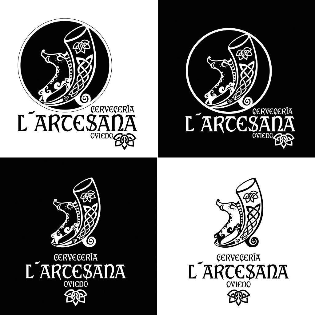 Diseño de logotipo para cervecería L´Artesana