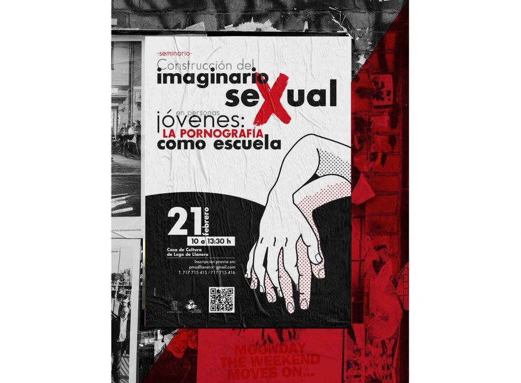 Diseño de cartel, flyer y carpeta para seminario de educación sexual