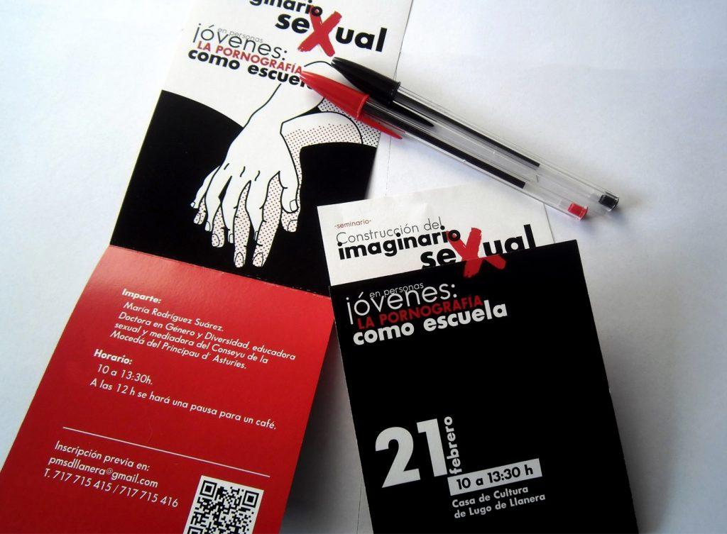 Diseño de cartel e invitación para seminario de educación sexual
