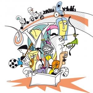 Diseño e ilustración para cartel, programa, mupi y lonas del Alcuentru de Llanera