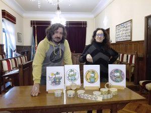 Presentación a medios de pegatinas infantiles en Pola de Lena