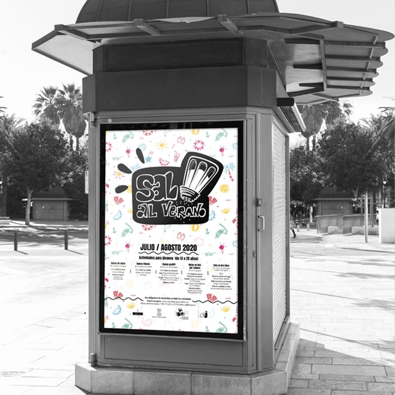 Diseño, ilustración y maquetación de la campaña Sal al verano, del ayuntamiento de llanera