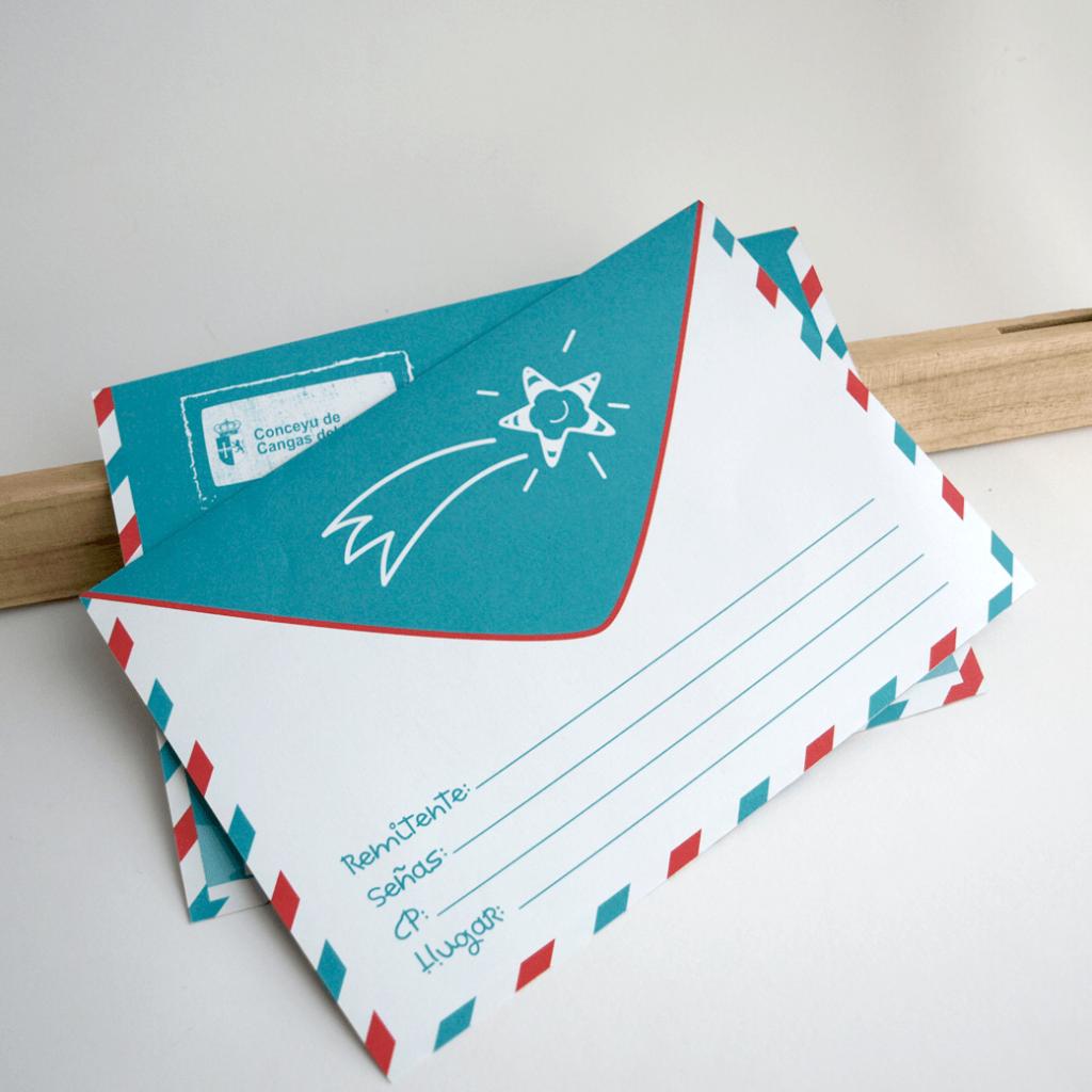 Ilustración, diseño y maquetación de carta de los reyes magos para el ayuntamiento de cangas del narcea