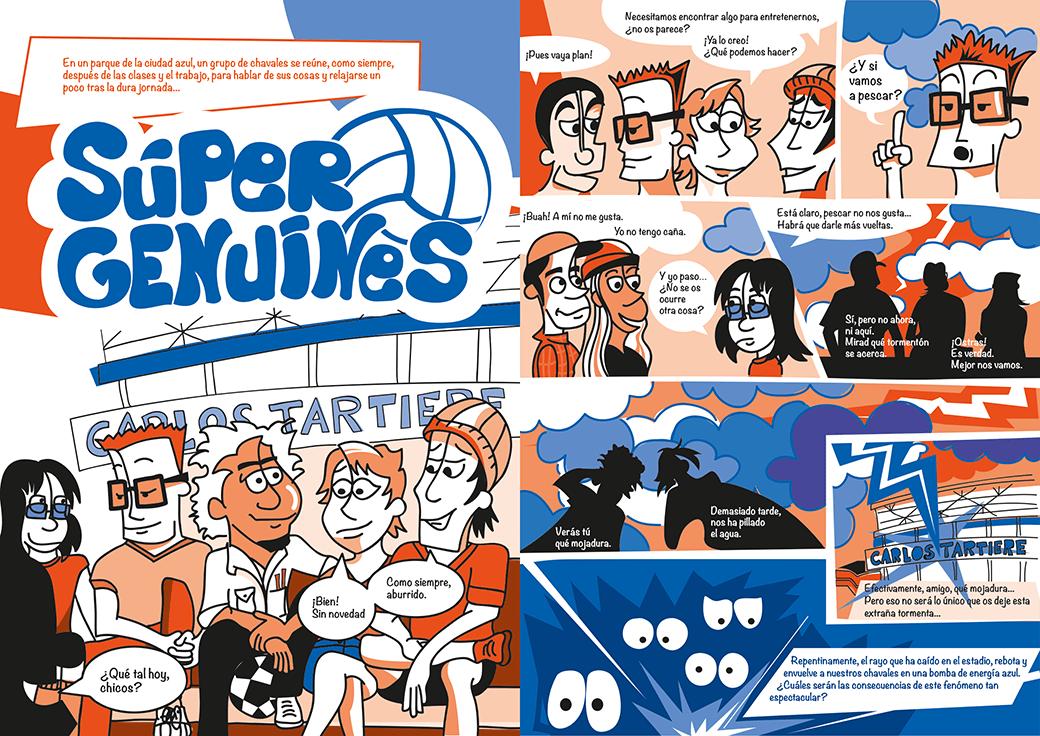 Ilustración, diseño y maquetación de cómic Real Oviedo Genuine