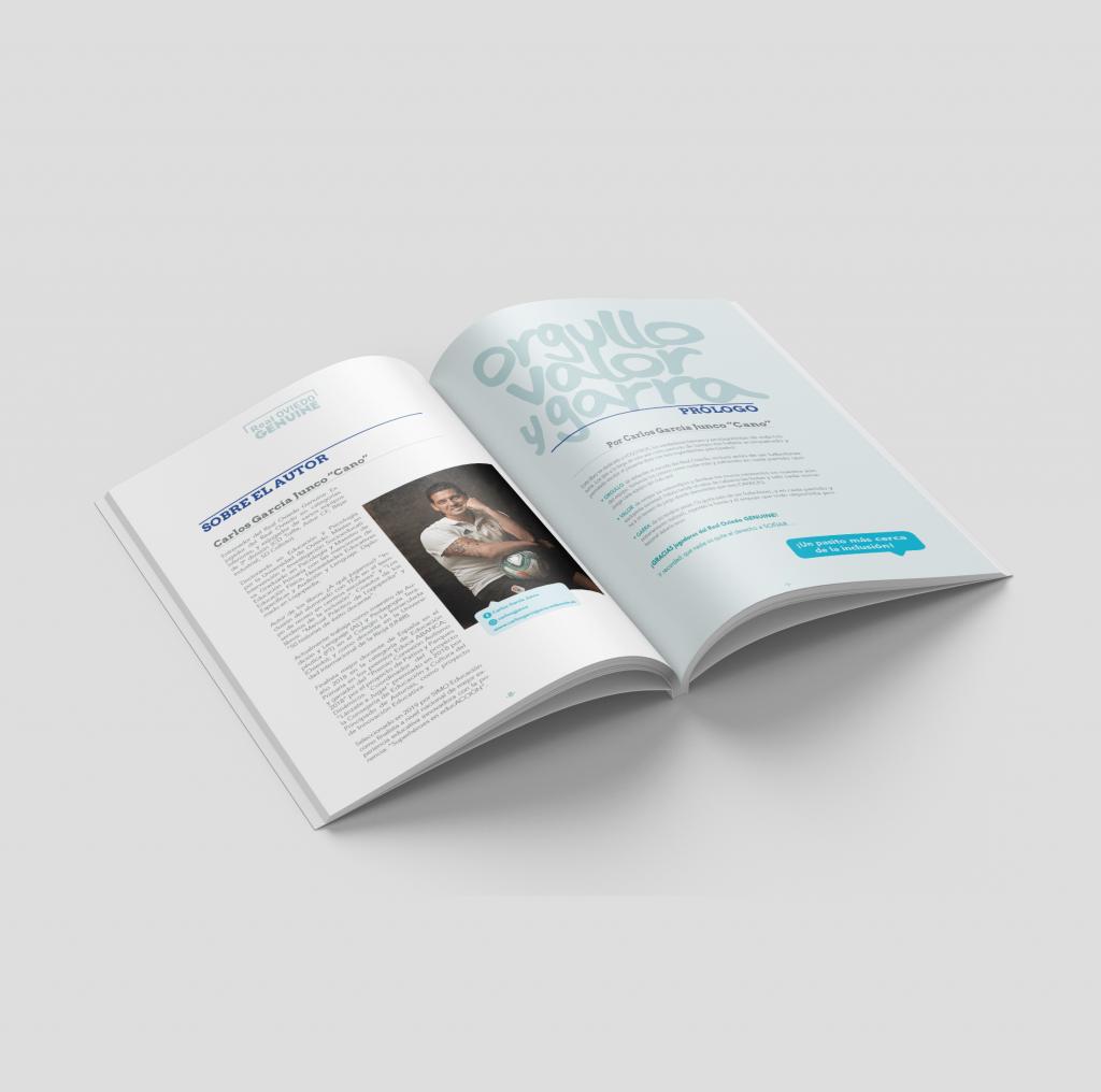 Diseño y maquetación de la publicación del Real Oviedo Genuine