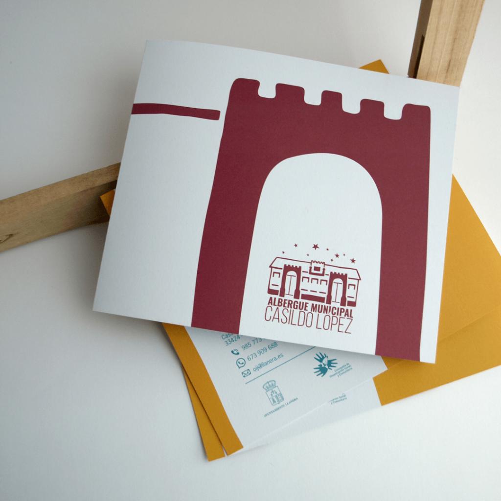 Diseño de logotipo y folleto para el albergue municipal de llanera