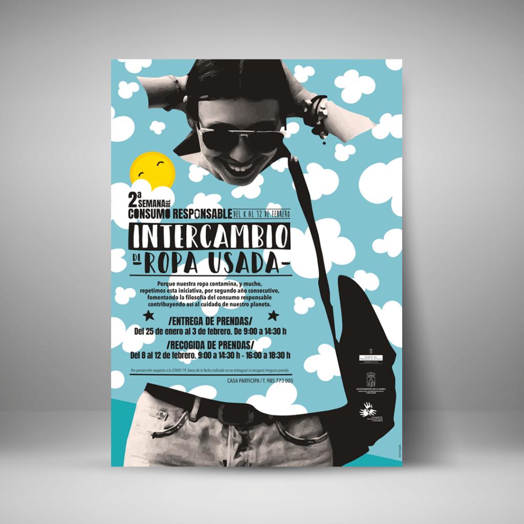 diseño y maquetación para la campaña de consumo responsable de llanera