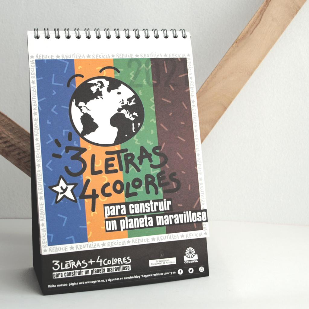 Diseño, ilustración y contenido del calendario de Cogersa 2021