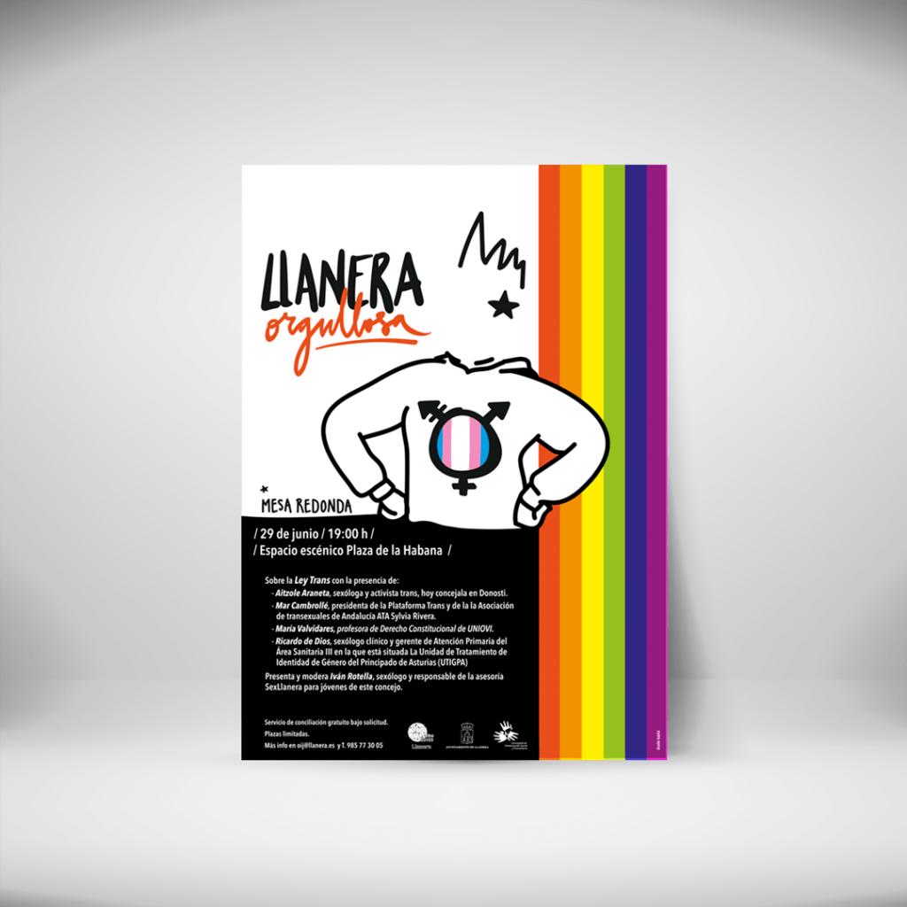 Ilustración, diseño y maquetación para llanera orgullosa, programación del día del orgullo 2021