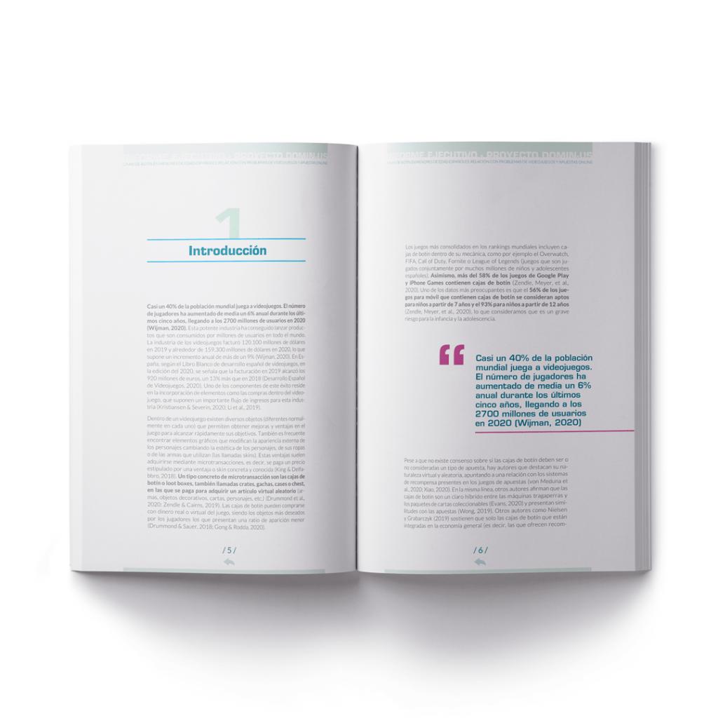 Diseño, maquetación e infografías para un estudio de la Universidad de la Rioja, UNIR