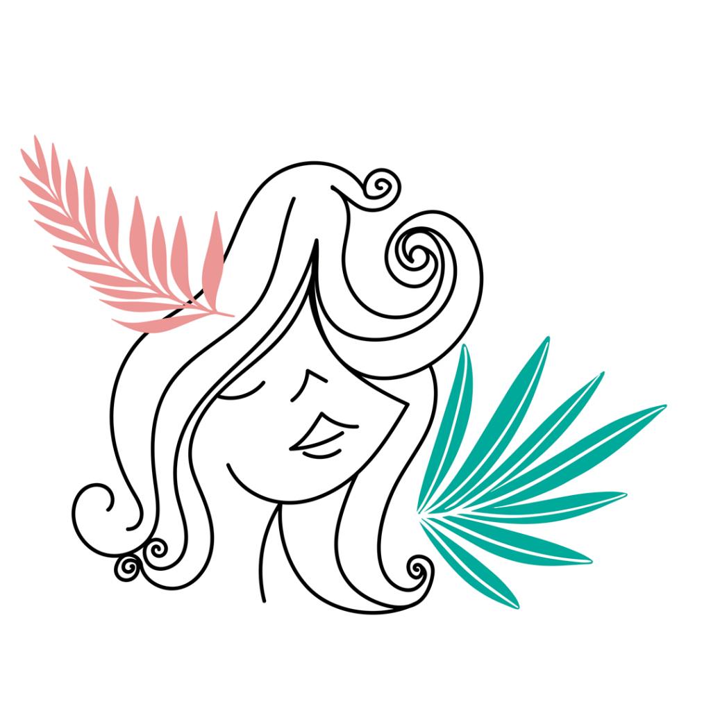 Diseño de logotipo e ilustración de peluqueria